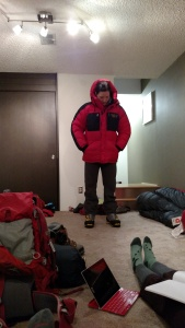 Leigh Ann models a parka, and my (maybe!) Spantik boots