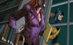 From the American Library Association poster:  http://starsinmargins.com/wp-content/uploads/2014/07/Batgirl-ALA-poster-large-with-no-words-419x261.jpg