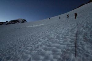 My first climb with Carolyn was a single-day push up Mt Baker's Coleman Glacier, some ...three and a half years ago. Photo Credit: Meredith Trainor