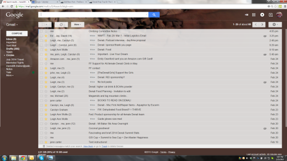 My inbox. All Denali, all the time.