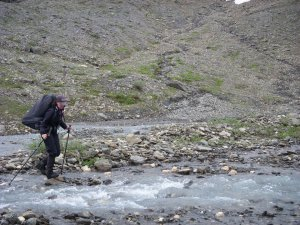 Gaiters on parade - during an 8 day wilderness backpacking trip in the Prophet River watershed, British Columbia, 2011...ish.