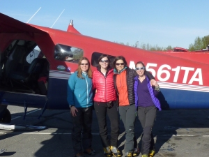 At the start. Getting ready to fly onto the glacier with TAT.