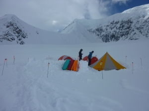 Home sweet home on the glacier.