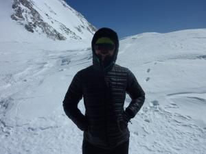 Mountain ninja returns from summit.